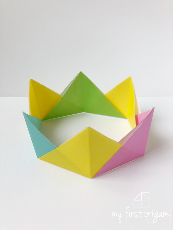 Easy Origami Crown