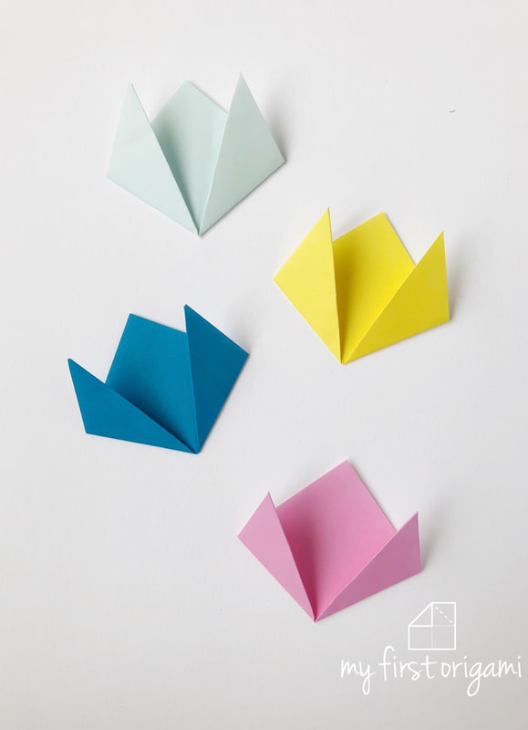 How to Make an Origami Tulip Flower & Stem | 800x579