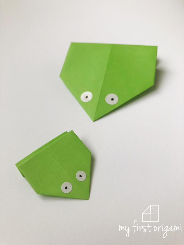 Easy Origami Jumping Frog My First Origami